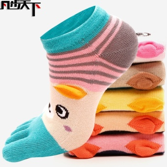 Cotton points toe women's socks toe socks