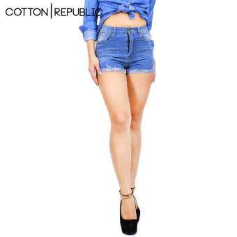 Cotton Republic Comfortable Denim Shorts - Sexy Tracy (Denim Blue)