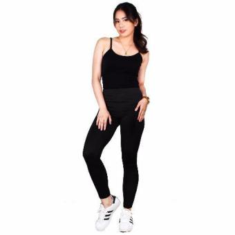 Cotton Republic Fashionable Plain Leggings (Black) Price Philippines
