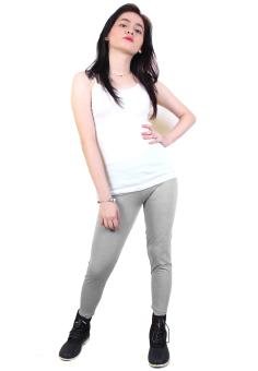 Cotton Republic Fashionable Plain Leggings (Gray) - 3