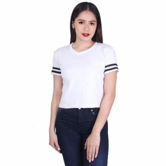 Cotton Republic Glam Crop Top Blouse (Black/White)