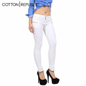 Cotton Republic Hipster Chromatic Jeans - Janice (White) Price Philippines