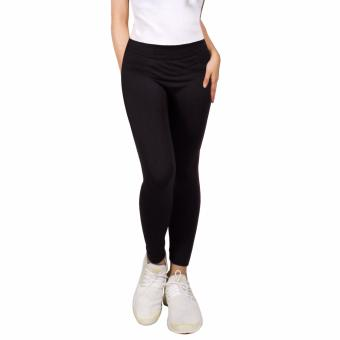 Cotton Republic Modern Fashionable Plain Leggings (Black) Price Philippines