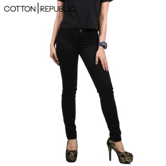 Cotton Republic Soft Stretchable skinny Jeans (Black) - 2