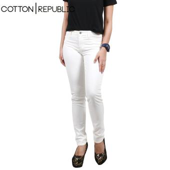 Cotton Republic Soft Stretchable skinny Jeans (White) Price Philippines