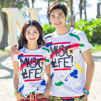 Couple New style short-sleeved quick-drying men and women T-shirt (T-shirt Top (one-piece))