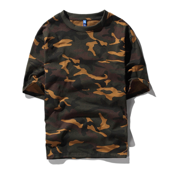 Couple's men and women camouflage loose short sleeved t-shirt (Camouflage half sleeved short T) (Camouflage half sleeved short T)