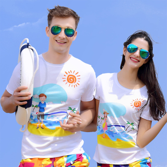 Couple's New style short sleeved t-shirt (FRAGATA Top)