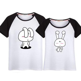 Couple's New style short sleeved Top T-shirt (Raglan (rabbit))