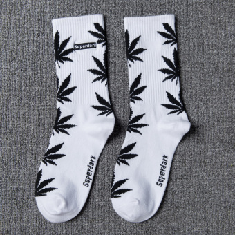 Couple's Fashionable 100% Cotton Tube Socks (White)
