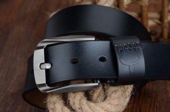 "COWATHER Men's Genuine Leather Belts for Men Lalaki tunay na katad na sinturon 100% Cow Genuine Leather Belts Male Pin Buckle Strap Dress Reversible Belt 1-1/2"" Strap Width XXS-XXL - 4"