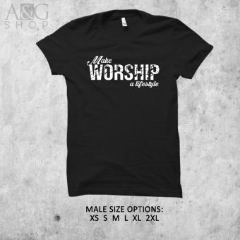 Crafts & Prints Gospel Shirt Make Worship A Lifestyle Black(Male) Price Philippines