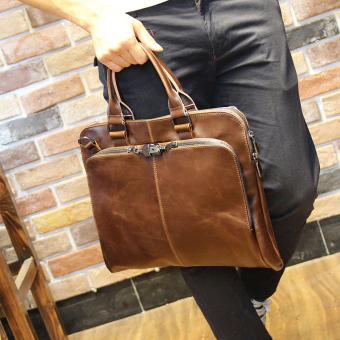 Crazy Horse leather men's men's bag (PARK'S color)