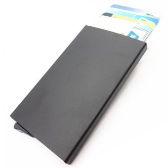 Credit Card Holder RFID Blocking Aluminum Business Card HolderPop-up Card Case Black - intl Price Philippines