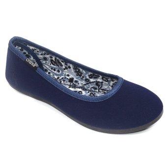 Crissa Steps Ems Ballet Flats (Navy Blue)