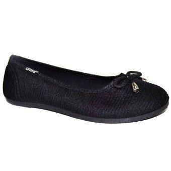 Crissa Steps Glena Ballet Flats (Black)