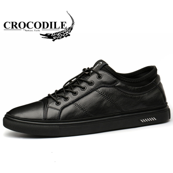 Crocodile leather men's casual leather shoes New style casual shoes