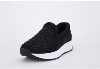 Crystal spring and autumn sports shoes (Black)