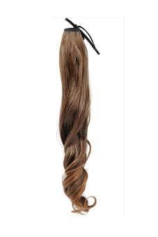 Curly Wrap Round Pony Tail Extension (Light Brown)