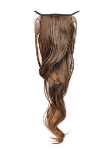 Curly Wrap Round Pony Tail Extension (Light brown) - picture 2