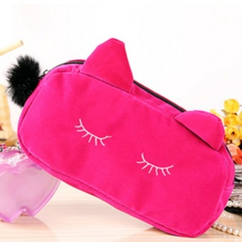 Cute Cat Neceser Beautician Vanity Trip Travel Toiletry Make Up Makeup Suitcase Case Storage Pouch Women Cosmetic Bag Organizer - intl