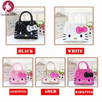 Cute Girl Hello Kitty Handbag Bag/Sling Bag (Light Pink)