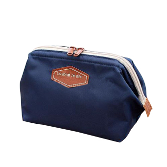 Cute Lady Travel Makeup Bag Dark Blue