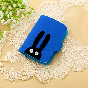 Cute large capacity ultra-thin card holder (Blue)