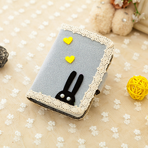 Cute large capacity ultra-thin card holder (Lace gray)