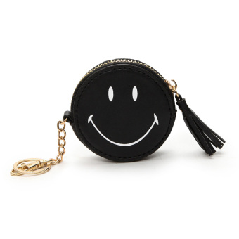 Cute small purse round key women's bag mini purse bag (Black)