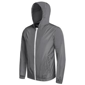 Cyber Bicycle Cycling Jacket Waterproof Windproof Wind Coat RainCoat ( Grey ) - 3