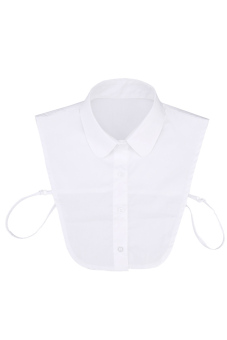 Cyber Half Tie Detachable Turn-down Collar (White)