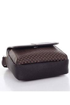 Cyber Men's Business Crossbody Messenger Bag (Brown) - picture 2
