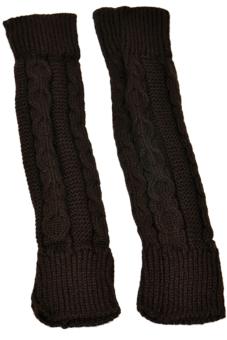Cyber New Women Arm Warmer Fingerless Long Gloves Leisure (Coffee)