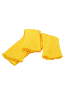Cyber Women Knitted Leg Warmer Boot Leg Warmer (Yellow) - picture 2