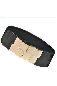 Cyber Women Wide Type Elastic Stretch Waistband Waist Belt (Black)