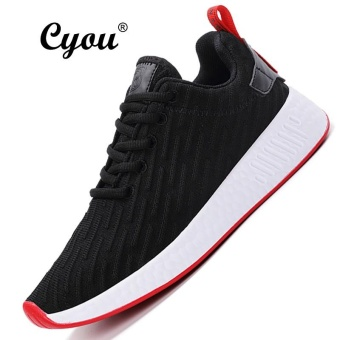 CYOU Unisex Sneakers Summer Breathable Shoes Autumn Outdoor Running Shoes For Women Trend Walking Shoes Kasut Wanita (Black) - intl