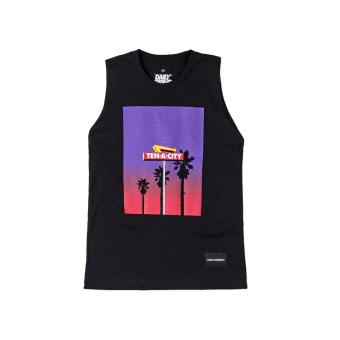DAILY GRIND Tropical Tank top (Black)