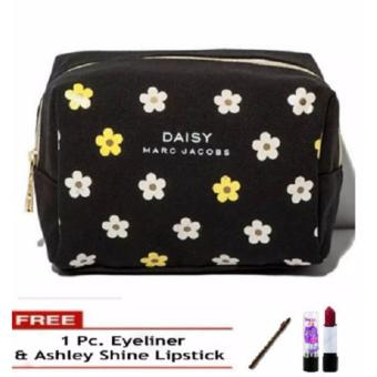 Daisy Marc Jacobs VIP Gift Vanity Cosmetic Pouch FREE 1 pc.Eyeliner & Ashley Shine lipstick