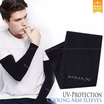 D&D AQUA-X UV PROTECTION & ICE SILK COOLING ARM SLEEVES(Black) Price Philippines