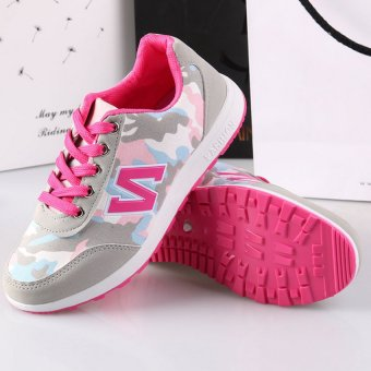 D&D Sports Women Camouflage Shoes Fashion Student Shoes JZ-A-3(Pink)