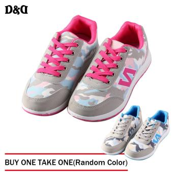 D&D Sports Women Camouflage Shoes Fashion Student ShoesJZ-A-3(Pink)BUY ONE TAKE ONE(Random Color)