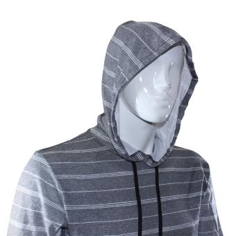 DC Hoddie Fashion Jacket - Gray/Black Stripes - 2