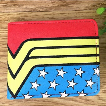 Deadpool Wonder Woman PVC Unisex Marvel Embroidery Wallet - intl