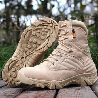 Delta Brand Men's Military Tactical Boots Desert Combat Outdoor Army Travel Boots - beige - intl