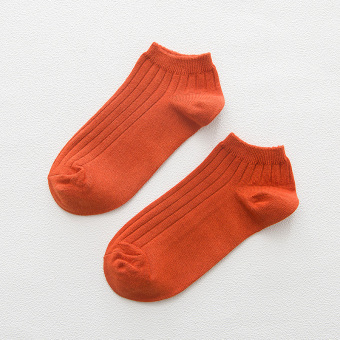 Dengyuan cotton deodorizing summer men's Socks (Deep orange)