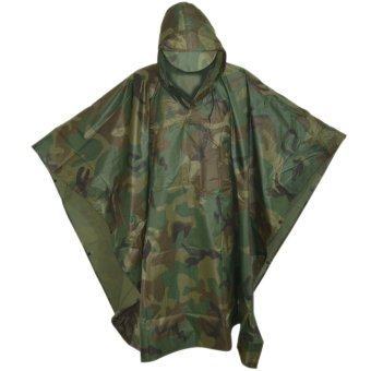 Digital Casual Poncho Water Proof Rain Coat (Camouflage)