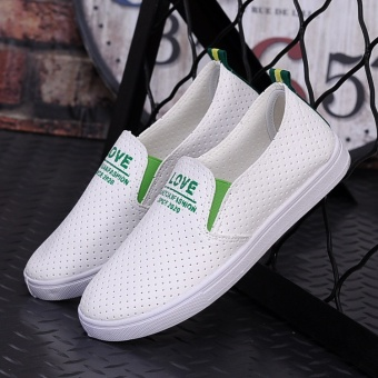 DM flat small white sail cloth shoes for women's shoes joker apedal - intl - 2