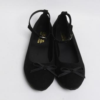 Doll Me Up Shoes Machiko's 1 Strap Flats (Black)