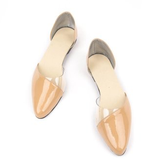 Doll Me Up Shoes Risa's D'Orsay Nude Flats